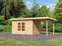 Karibu Woodfeeling Gartenhaus Kandern 7 mit Anbaudach 2,35 Meter