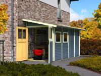 Karibu Gartenhaus Wandlitz 4 terragrau 19 mm
