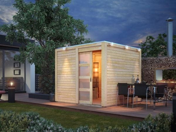 Karibu Gartenhaus Qubic natur