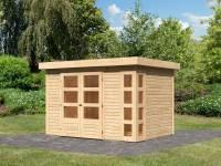 Karibu Woodfeeling Gartenhaus Kerko 4 natur 19 mm