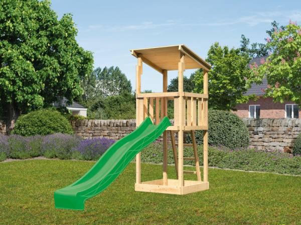 Akubi Spielturm Anna + Rutsche grün