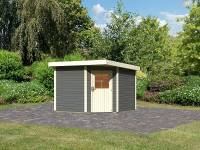 Karibu Woodfeeling Gartenhaus Neuruppin 3 terragrau 28 mm