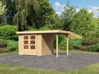 Karibu Woodfeeling Gartenhaus Askola 3 mit Anbaudach 1,50 Meter