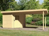 Karibu Woodfeeling Gartenhaus Neuruppin 2 natur mit Schleppdach 3,00 Meter