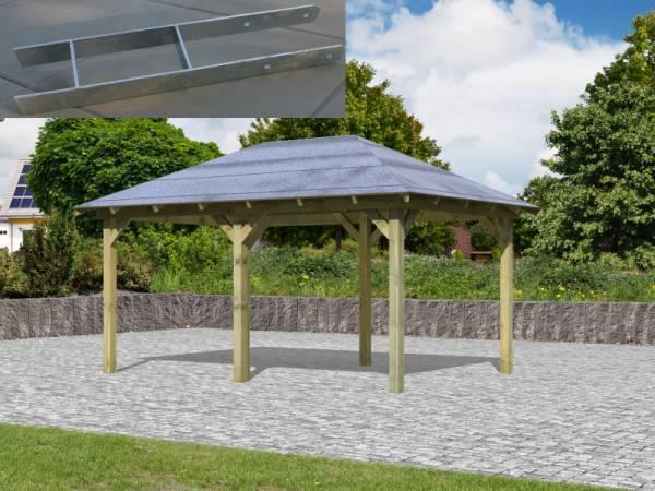 Karibu Aktions 4-Eck Pavillon Arcazia 1 inkl. H-Pfostenanker