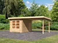 Karibu Woodfeeling Gartenhaus Bastrup 4 mit Schleppdach 3 Meter