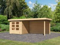 Karibu Woodfeeling Gartenhaus Askola 2 mit Anbaudach 2,8 m und Rückwand