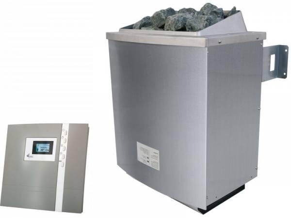 Karibu Saunaofen 9,0 kW externe Steuerung Premium mit Steinen