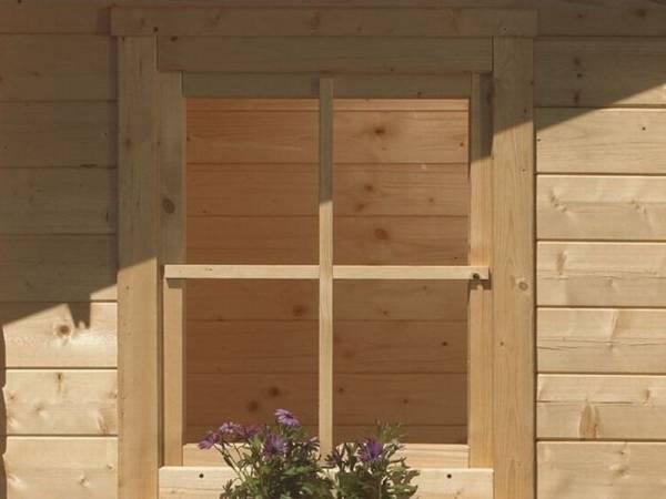 Karibu Fenster für 38 mm natur