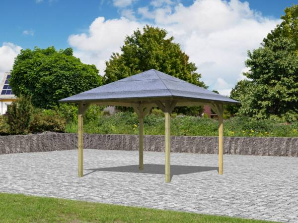 Karibu Aktions 4-Eck Pavillon Parzello KDI