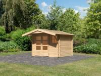 Karibu Woodfeeling Gartenhaus Blockholm 1 inkl. Vordach