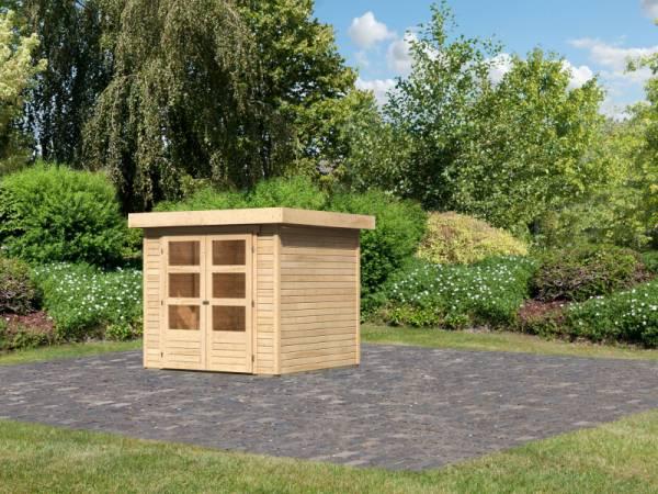 Karibu Woodfeeling Gartenhaus Askola 2 natur 19 mm