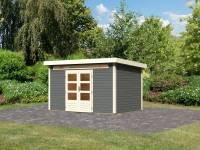 Karibu Woodfeeling Gartenhaus Kandern 7 in terragrau 28 mm