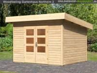 Karibu Woodfeeling Gartenhaus Northeim 2 naturbelassen 38 mm