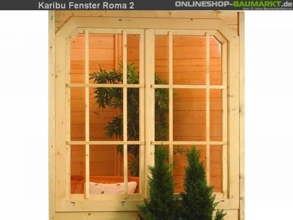 Karibu Fenster für Rom 2 mit Drehbeschlag