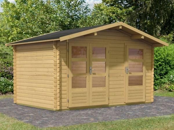 Karibu Woodfeeling Gartenhaus Radur 0 28 mm 2-Raum-Haus