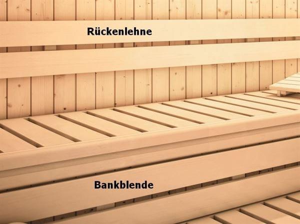 Karibu Sauna Rückenlehnen und Bankblenden Set 2 Premium