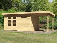 Karibu Woodfeeling Gartenhaus Bastrup 8 mit Schleppdach 2 Meter