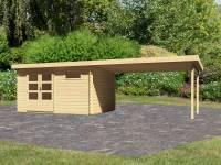 Karibu Woodfeeling Gartenhaus Bastrup 8 mit Schleppdach 4 Meter