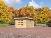 Karibu Aktions Gartenhaus Rastede 3 mit Dacheindeckung und Fußboden