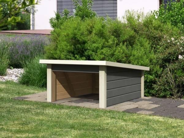Karibu Woodfeeling Haus für Mähroboter 2 terragrau