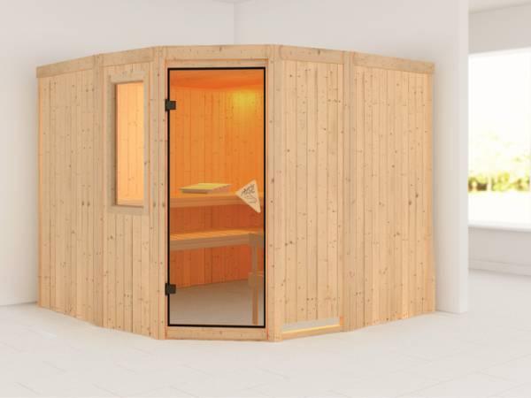 Simara 3 - Karibu Sauna ohne Ofen - mit Fenster -