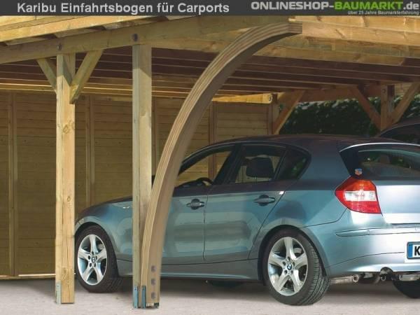 Karibu 2 x Einfahrtsbogen aus Leimholz für Carport