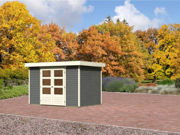 Karibu Aktions-Gartenhaus Jever 4 terragrau 19 mm