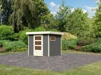 Karibu Woodfeeling Gartenhaus Oburg 2 terragrau 19 mm