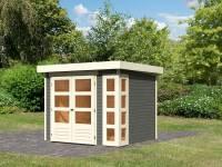 Karibu Woodfeeling Gartenhaus Kerko 3 in terragrau 19 mm