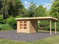 Karibu Woodfeeling Gartenhaus Bastrup 2 mit Schleppdach 3 Meter