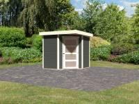 Karibu Woodfeeling Gartenhaus Schwandorf 3 terragrau 19 mm