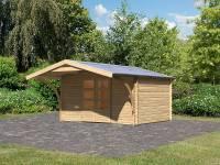 Karibu Gartenhaus Meldorf 5 mit Vordach