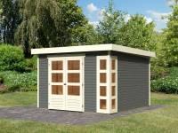 Karibu Woodfeeling Gartenhaus Kerko 6 in terragrau 19 mm