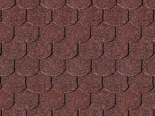 Karibu Dachschindeln Biberschwanz dunkelrot
