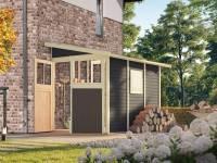 Karibu Gartenhaus Wandlitz 3 terragrau 19 mm