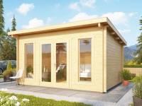 Karibu Gartenhaus Stavanger 2 Blockbohle 70 mm